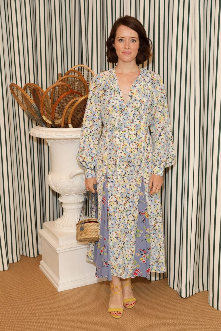 Claire Foy attends Polo Ralph Lauren During Wimbledon Tennis Championship Men's Final in London 2019/07/14 2
