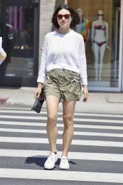 Crystal Reed flashes her legs in shorts Out in Beverly Hills 2019/07/11 1