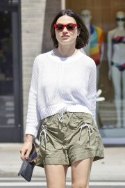 Crystal Reed flashes her legs in shorts Out in Beverly Hills 2019/07/11 9