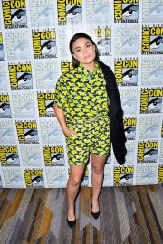 Devery Jacobs attends The Order Photocall at Comic-con International in San Diego 2019/07/18 6