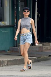 Diane Kruger flashes toned abs in short top out in New York 2019/07/17 3