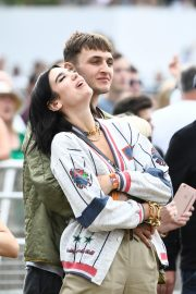 Dua Lipa and Anwar Hadid at the British Summer Time Hyde Park Concert in London 2019/07/06 1