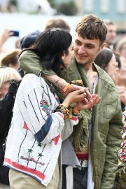 Dua Lipa and Anwar Hadid at the British Summer Time Hyde Park Concert in London 2019/07/06 6
