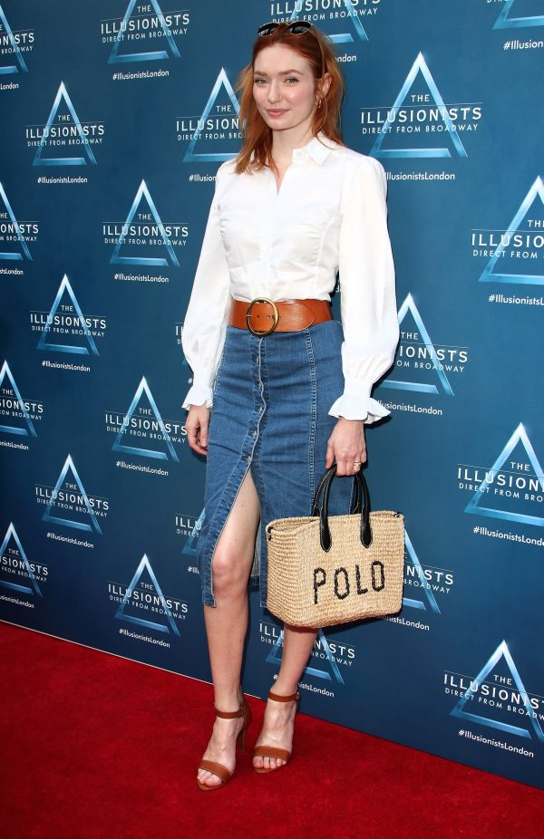 Eleanor Tomlinson attends The Illusionists Press Night at Shaftesbury Theatre in London 2019/07/10 1