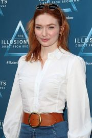 Eleanor Tomlinson attends The Illusionists Press Night at Shaftesbury Theatre in London 2019/07/10 2