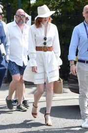 Eleanor Tomlinson attends Wimbledon 2019 Tennis Championships in England 2019/07/08 1