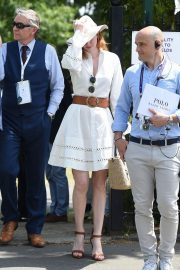 Eleanor Tomlinson attends Wimbledon 2019 Tennis Championships in England 2019/07/08 2