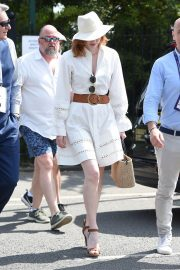 Eleanor Tomlinson attends Wimbledon 2019 Tennis Championships in England 2019/07/08 3