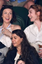 Eleanor Tomlinson attends Wimbledon 2019 Tennis Championships in England 2019/07/08 8