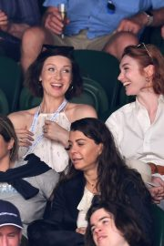 Eleanor Tomlinson attends Wimbledon 2019 Tennis Championships in England 2019/07/08 10