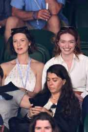 Eleanor Tomlinson attends Wimbledon 2019 Tennis Championships in England 2019/07/08 11