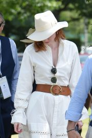 Eleanor Tomlinson attends Wimbledon 2019 Tennis Championships in England 2019/07/08 12