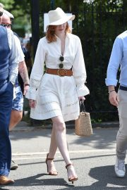 Eleanor Tomlinson attends Wimbledon 2019 Tennis Championships in England 2019/07/08 14