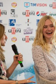 """Elle Fanning attends """"Teen Spirit"""" Press conference at Giffoni Film Festival 2019/07/22 1"""