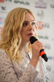 """Elle Fanning attends """"Teen Spirit"""" Press conference at Giffoni Film Festival 2019/07/22 2"""