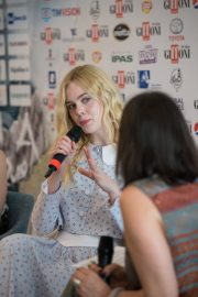 """Elle Fanning attends """"Teen Spirit"""" Press conference at Giffoni Film Festival 2019/07/22 4"""