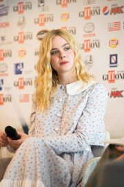 """Elle Fanning attends """"Teen Spirit"""" Press conference at Giffoni Film Festival 2019/07/22 5"""