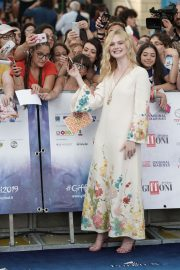 Elle Fanning in Stylish Dress attends the Giffoni Film Festival Day 4 2019/07/22 2