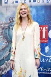 Elle Fanning in Stylish Dress attends the Giffoni Film Festival Day 4 2019/07/22 9