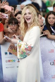 Elle Fanning in Stylish Dress attends the Giffoni Film Festival Day 4 2019/07/22 10