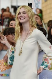 Elle Fanning in Stylish Dress attends the Giffoni Film Festival Day 4 2019/07/22 11