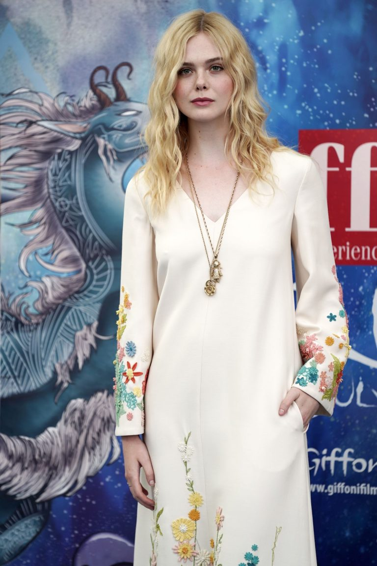 Elle Fanning in Stylish Dress attends the Giffoni Film Festival Day 4 2019/07/22 16