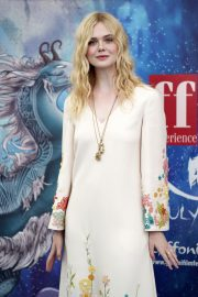 Elle Fanning in Stylish Dress attends the Giffoni Film Festival Day 4 2019/07/22 20