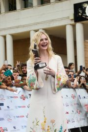 Elle Fanning in Stylish Dress attends the Giffoni Film Festival Day 4 2019/07/22 26