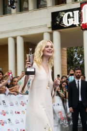 Elle Fanning in Stylish Dress attends the Giffoni Film Festival Day 4 2019/07/22 27