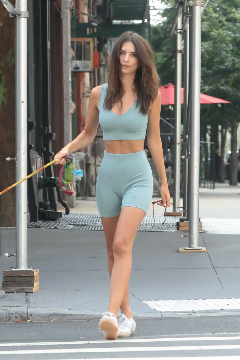 Emily Ratajkowski with her Dog Out for a walk in New York City 2019/07/06 3
