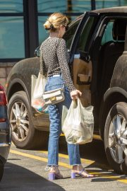 Emma Roberts Shopping at Gelson's Market for Groceries in Los Feliz 2019/07/02 11