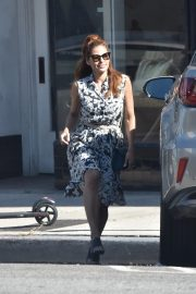 Eva Mendes in Floral Dress Out in Los Angeles 2019/07/18 1