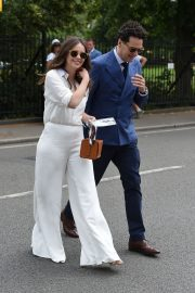 Felicity Jones and Charles Guard at the 2019 Wimbledon Tennis Championships in London 2019/07/08 1