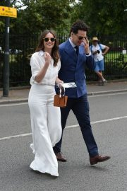 Felicity Jones and Charles Guard at the 2019 Wimbledon Tennis Championships in London 2019/07/08 2