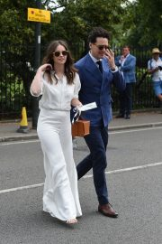Felicity Jones and Charles Guard at the 2019 Wimbledon Tennis Championships in London 2019/07/08 3
