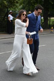 Felicity Jones and Charles Guard at the 2019 Wimbledon Tennis Championships in London 2019/07/08 4