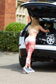 Ferne McCann in Pink Floral Tights Out in Brentwood 2019/07/08 5