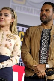 Florence Pugh and O. T. Fagbenle attend Marvel Panel at Comic-con 2019 in San Diego 2019/07/20 1