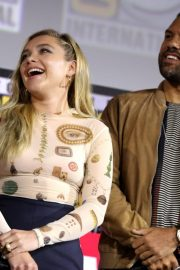 Florence Pugh and O. T. Fagbenle attend Marvel Panel at Comic-con 2019 in San Diego 2019/07/20 3