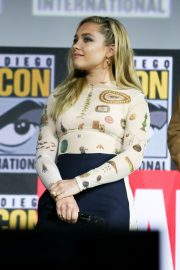 Florence Pugh and O. T. Fagbenle attend Marvel Panel at Comic-con 2019 in San Diego 2019/07/20 4