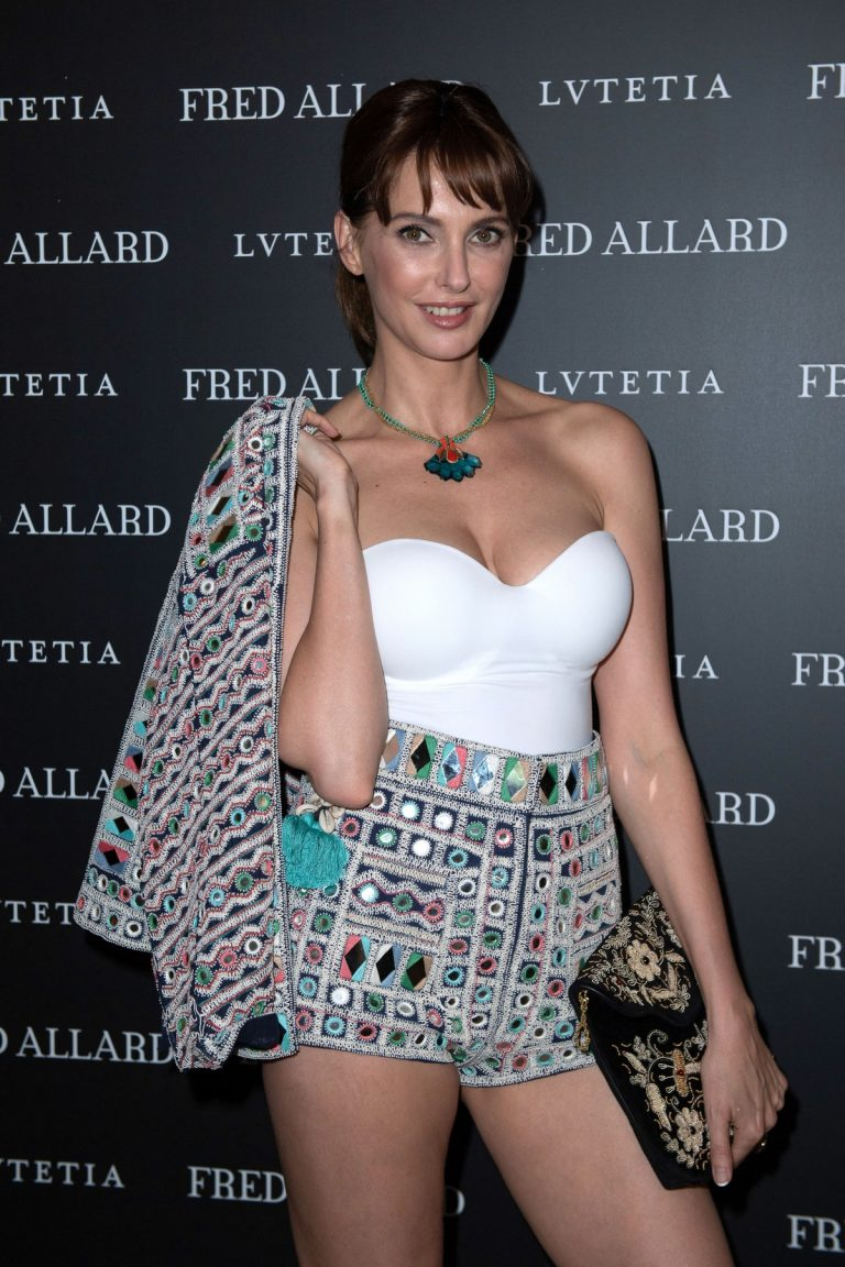 Frederique Bel attends Fred Allard X LVUTETIA Exhibition Opening In Paris - June 27/2019 4