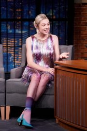 Hunter Schafer attends an interview on Late Night with Seth Meyers 2019/07/23 5