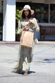 Jenna Dewan in Floral Dress Out in Beverly Hills 2019/07/01 10