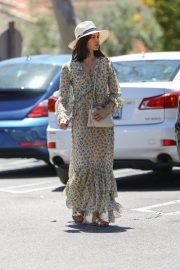 Jenna Dewan in Floral Dress Out in Beverly Hills 2019/07/01 11