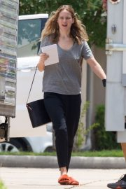 Jennifer Lawrence in Grey T-Shirt at Lila Neugebauer Project in New Orleans 2019/04/07 7