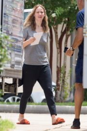 Jennifer Lawrence in Grey T-Shirt at Lila Neugebauer Project in New Orleans 2019/04/07 10