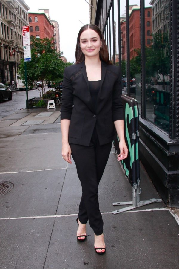 Aisling Franciosi in Black Outfit arrives at Build Series in New York 2019/08/07 2