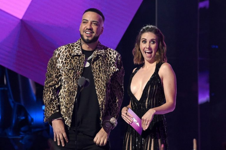 Alison Brie and French Montana at 2019 MTV Video Music Awards at Prudential Center 2019/08/26 2