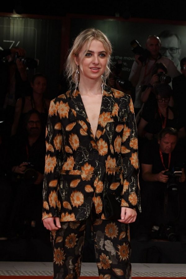 """Anais Gallagher in Floral Suit attends """"Ad Astra"""" Premiere at the 76th Venice Film Festival, Italy 2019/08/29 1"""