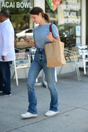 Ashley Greene in Light Blue T-Shirt and Blue Denim Out in Studio City 2019/08/08 3